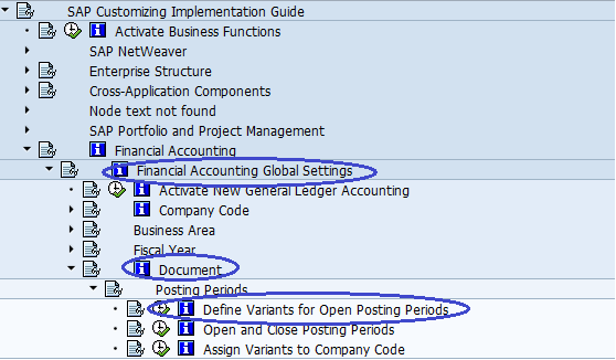 Menu Path- DEFINE VARIANT FOR OPENING POSTING PERIODS