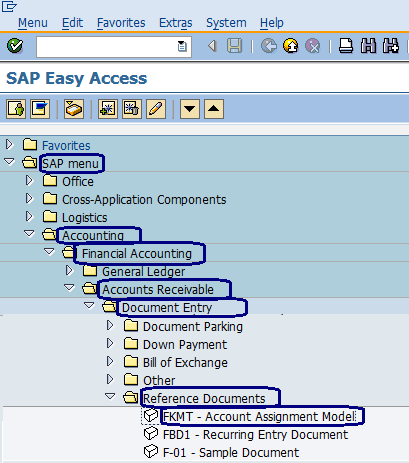 Account Assignment Model In Sap Fkmt Sap Training Tutorials