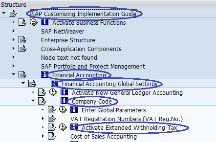 Menu Path - Activate Extended Withholding Tax