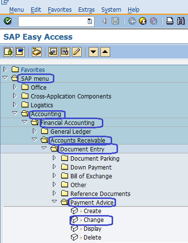 Change Payment Advice in SAP