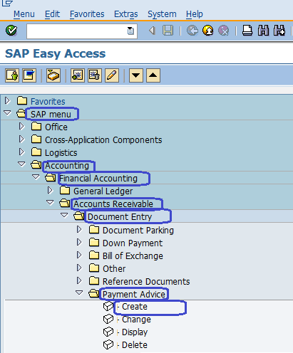 Create Payment Advice in SAP