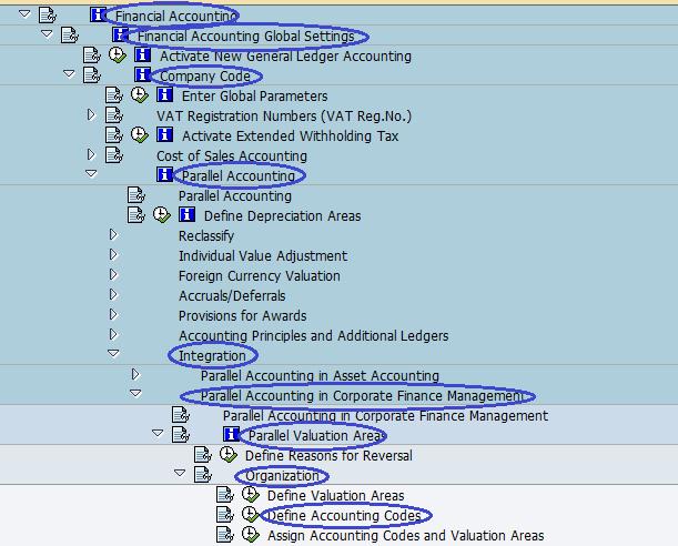 Menu Path - Define Accounting Codes