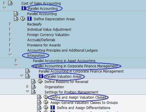 Menu path - Define and Assign valuation Classes