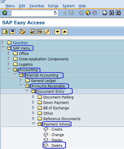 Delete Payment Advice in SAP