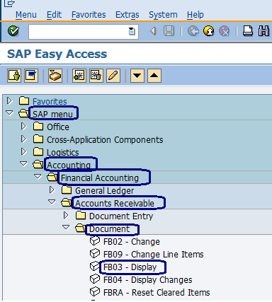 Display Document in SAP