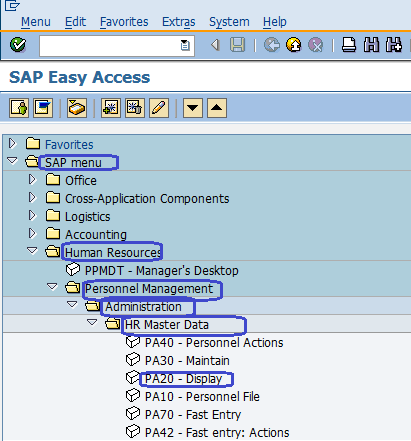 Display HR Master Data in SAP