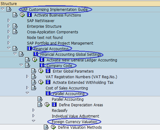 SAP Menu Path - Foreign currency Valuation