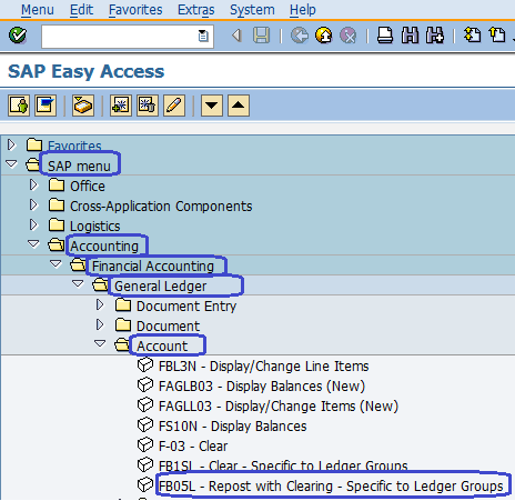 General Ledger repost with Clearing  Specific to Ledger Group
