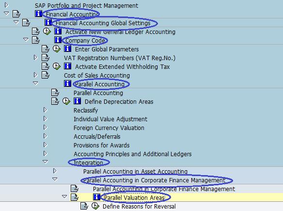 Menu Path- Parallel valuation Areas