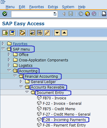 Post Incoming Payments in SAP