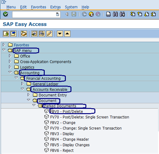 Post Parked Document in SAP