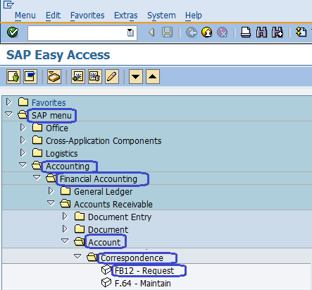 Request Correspondence in SAP
