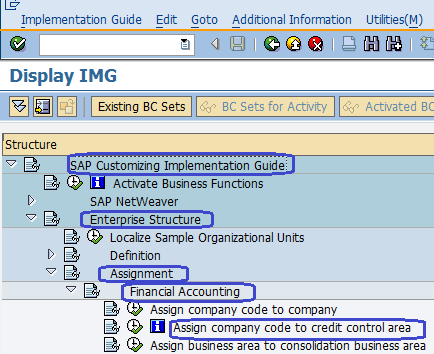 Assign Company Code to Credit Control Area