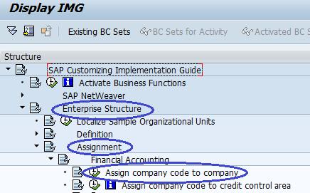 Assign Company code to Company SAP