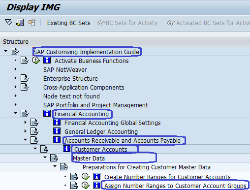 Assign Number range to Customer Accounts groups