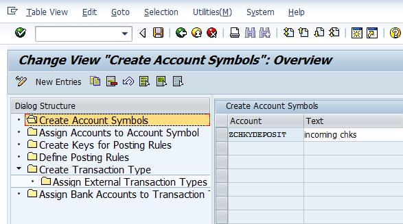 Create Accounts Symbols