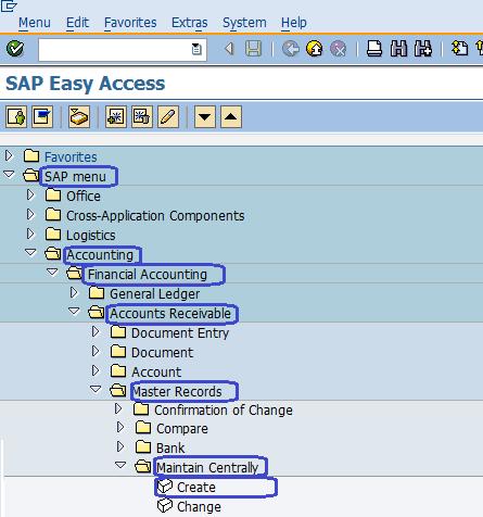 Create Customer in SAP