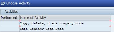 Edit company code data