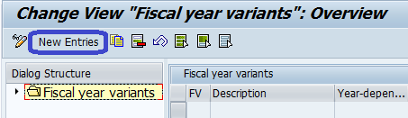 Create Fiscal Year Variant in sap