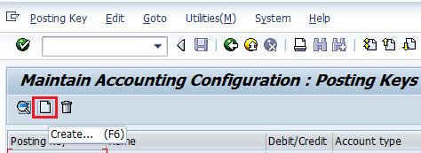 Define Posting Keys in SAP FICO