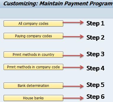 Automatic Payment Program Configuration Steps SAP FI
