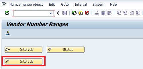 Create Number Ranges for Vendor Accounts