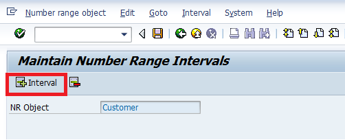Create Number Ranges for Customer Accounts