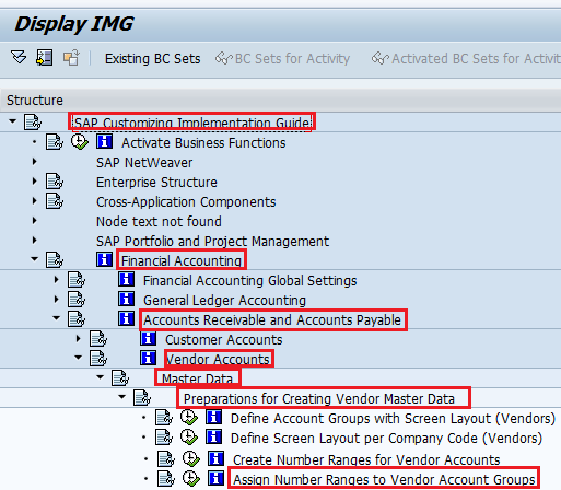 Assign Number Ranges to Vendor Account Groups