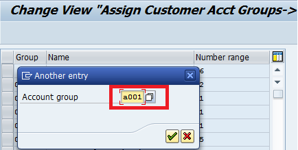 Assign Number Ranges to Customer Account Groups