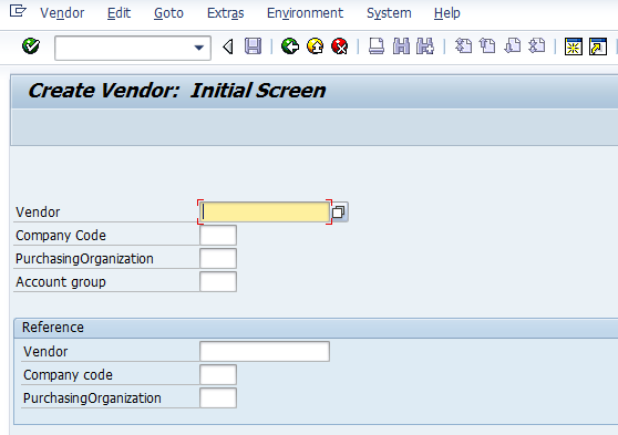 How to Create Vendor Master Data