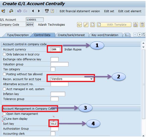 How to Create Sundry Creditors GL Account