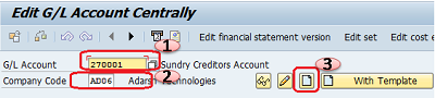 How to Create G/L General Ledger Account Master Record