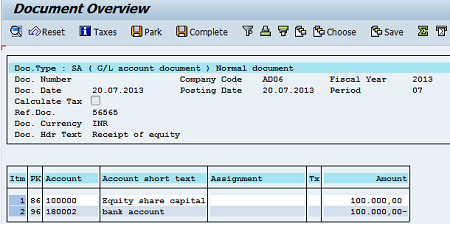 How to Post General Ledger Account Document