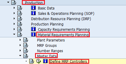 Define SAP MRP Controllers - Material Requirement Planning
