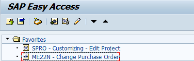 How to add transaction codes to favorites in SAP