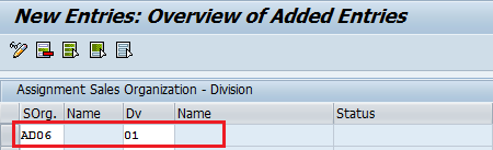 Assign Division to Sales Organization