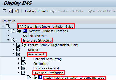 How to Assign Sales Organisation to Company Code