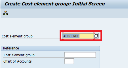 Create cost element group - enter cost element group