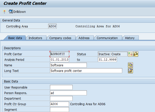 How to Create profit Center in SAP