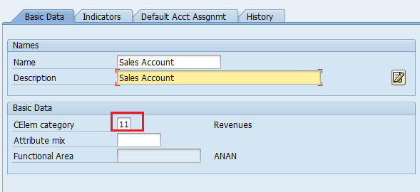 Create Revenue Elements in SAP