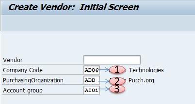 How to create Vendor code in SAP