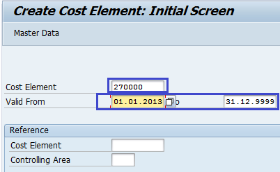 How to Create Cost Element in SAP