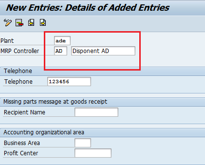SAP Define MRP Controllers - Material Requirement Planning
