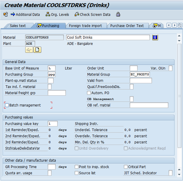 Define Material Master record | Create Material Codes - SAP