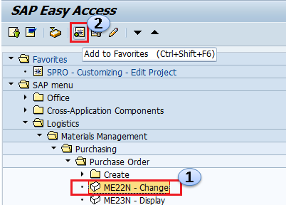 How to add transaction codes to favorites in SAP - SAP