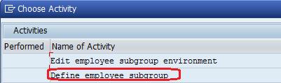 Define Employee subgroup