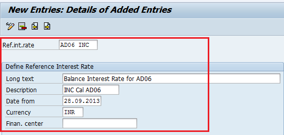 SAP Interest Calculation Configuration