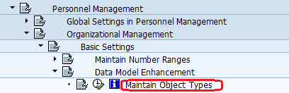Maintain Object types in SAP