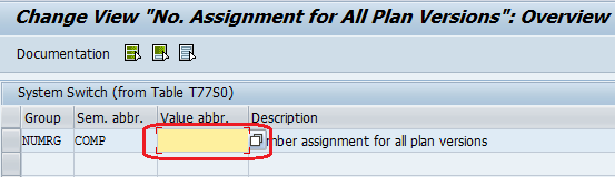 Setup Number Assignment for plan versions entries