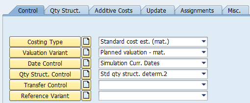 control costing type